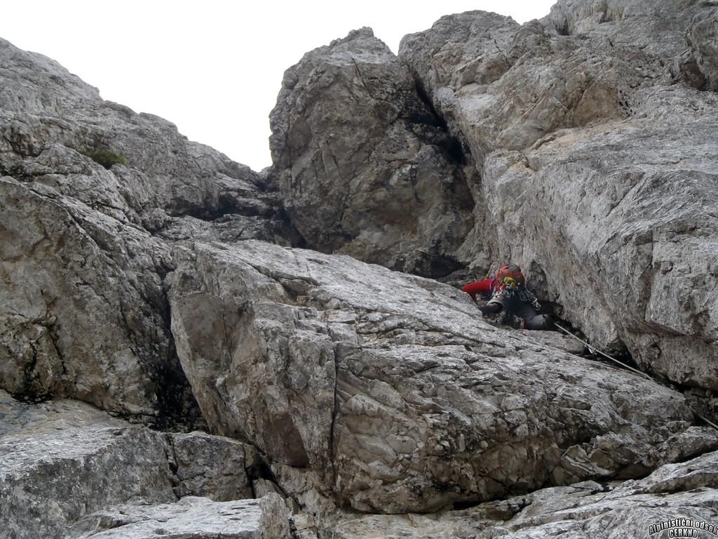 Nad Šitom glava, Tandara- Mandara V+/IV, 250 m